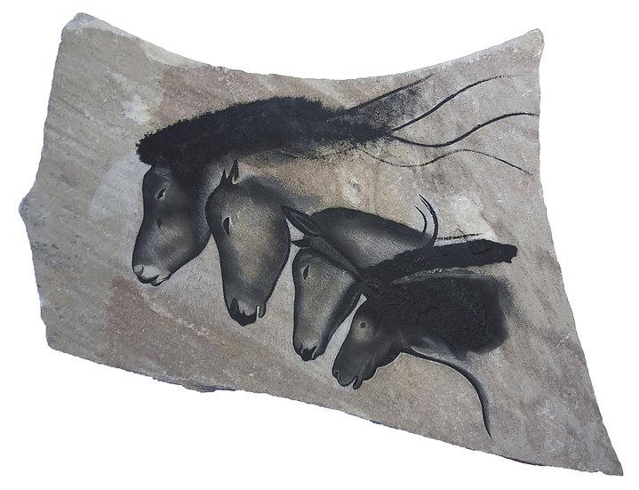 Chauvet Horses on sandstone