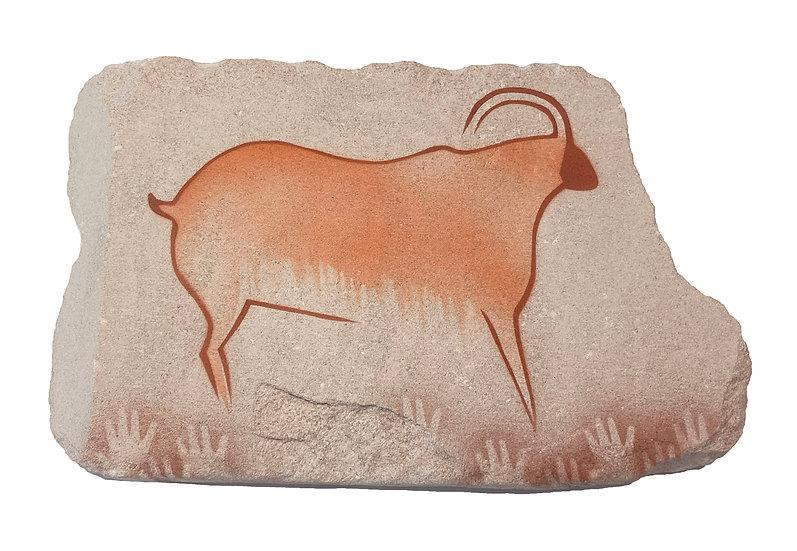 Cougnac Ibex painting on sandstone