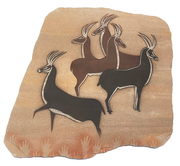 Antelope of Algeria on sandstone