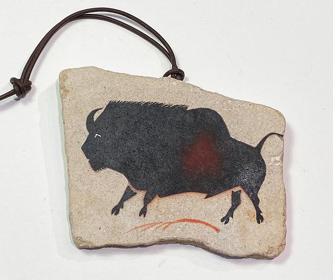 Lascaux Bison Stone Ornament