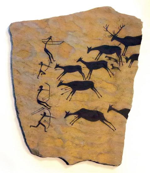 Spanish Hunting Scene on sandstone