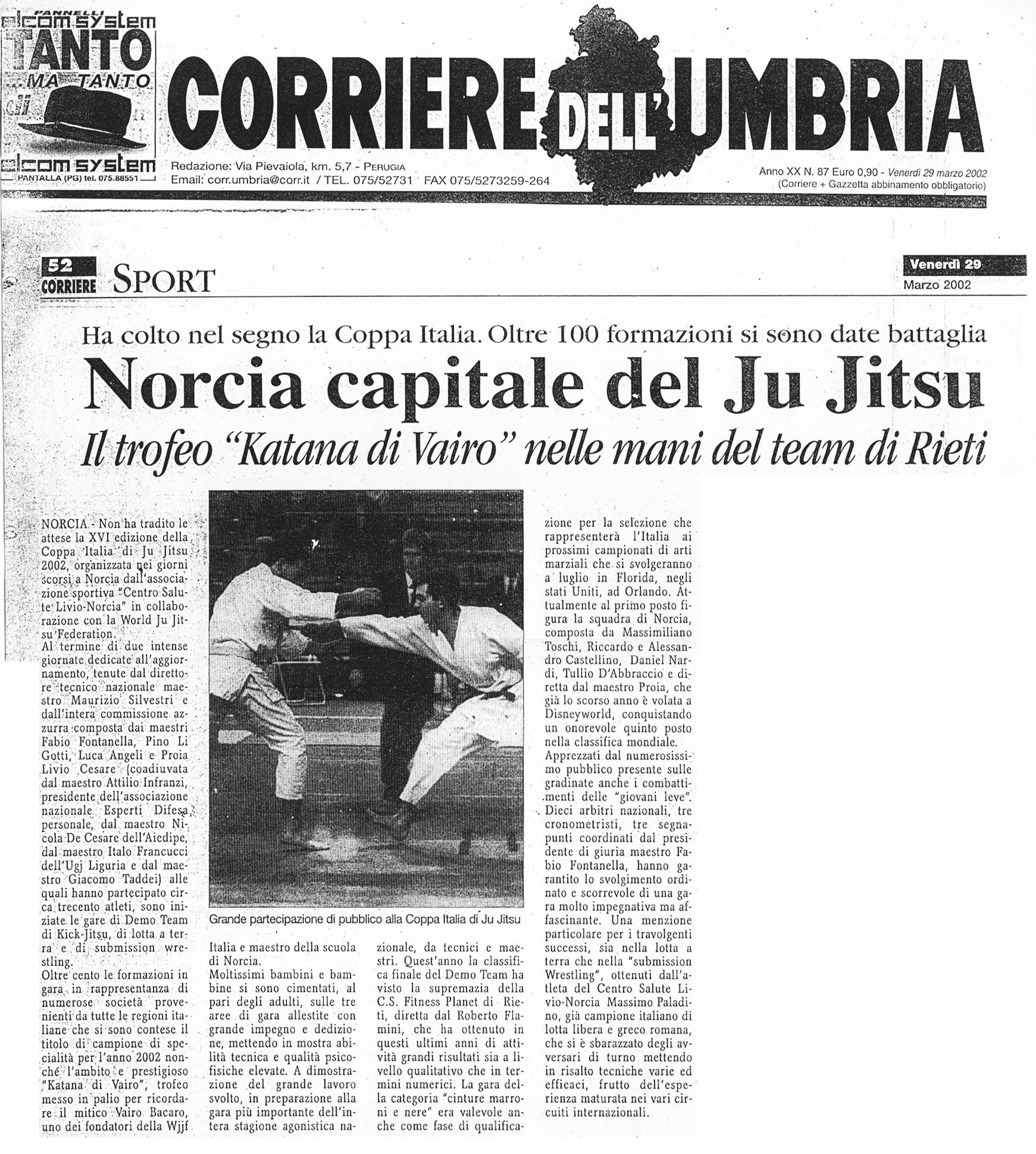 2002 Corriere dell'Umbria