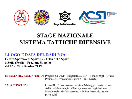 Stage Nazionale Sistema Tattiche Difensive