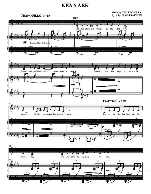KEA'S ARK (from KEA'S ARK) Rhythm Ballad, Alto