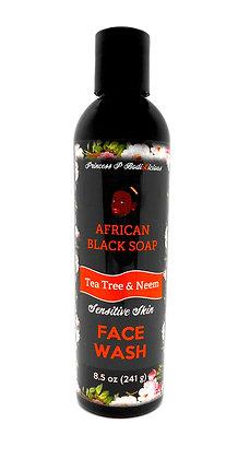 Tea Tree & Neem Black Soap Face Wash (9 oz)