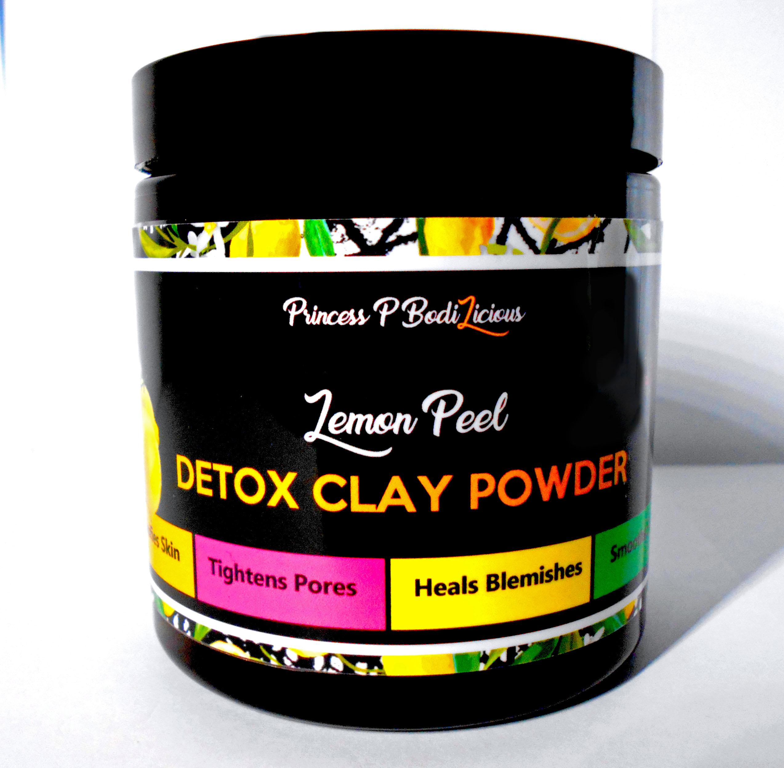 Detox Clay Powder -Lemon Peel