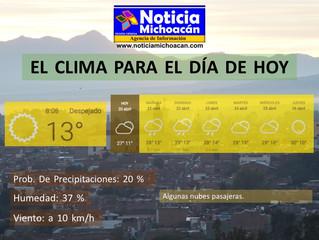 Clima para Zacapu y la Región, Algunas nubes pasajeras