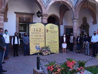 Presidenta de Puruándiro Conmemora el 162 Aniversario de la Elevación de Puruándiro