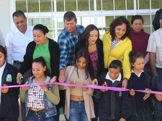 Autoridades de Puruándiro realizaron entrega de aula para Telebachillerato de los Reyes