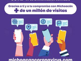 Crece interés de usuarios en micrositio sobre COVID-19