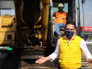Da Gobernador banderazo de arranque de construcción del Distribuidor Vial Mil Cumbres