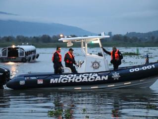 Realiza SSP patrullajes acuáticos en Pátzcuaro