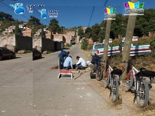 Sapas Zacapu continúa Realizando los trabajos de rehabilitación en las líneas generales