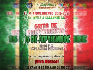 Ayuntamiento de Panindícuaro te invita a celebrar el grito de Independencia este 15 de sep.