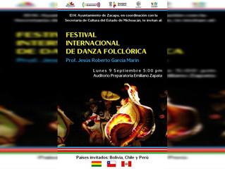 Gobierno de Zacapu hace invitación al Festival Internacional de Danza Folclórica