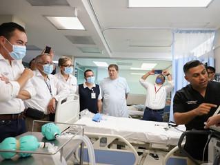 Supervisan instalaciones y protocolos para atender contingencia por COVID-19