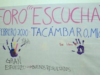 Aceptan reto jóvenes de Tacámbaro y dicen lo que piensan en Foro Escucha