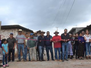 El Alcalde Adrián Inauguro La Calle S/N Que Va Hacía La Secundaría en Puacuaro