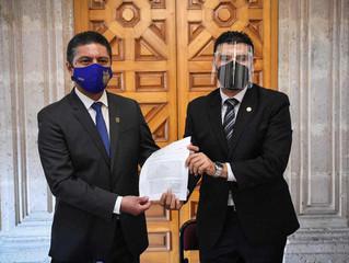 Recibe presidencia del Congreso del Estado informe de Compromisos de la UMSNH con el Legislativo