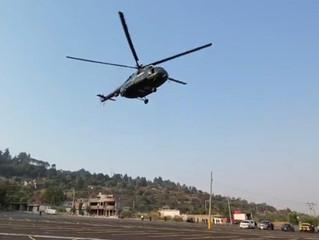 """Arriban helicópteros para apoyar en atención al incendio en cerro de """"El Cacique"""""""