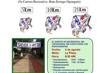 Ayuntamiento de Erongarícuaro invita a participar en 5ta Edicición de la Carrera de Los Viejitos