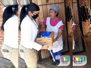 DIF Zacapu Realiza Entrega de Bebidas Nutricionales para Adultos Mayores