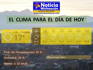 Clima para Zacapu y la Región, Más sol que nubes