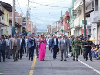 Se llevó a cabo desfile cívico por el CCIX Aniversario de la Independencia en Zacapu