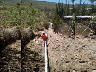 Ayuntamiento de Puruándiro Trabaja en la Construcción de Red  de Agua Potable
