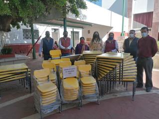 Ayuntamiento Jiménez Hace entrega de Mobiliario a Jardines de Niño del Municipio