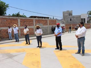 Presidente de Puruándiro Hace Entrega de Pavimentación a Base de Concreto Hidráulico