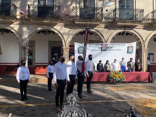 Ayuntamiento de Morelos Llevo a cabo acto cívico 110 años de la Revolución Mexicana