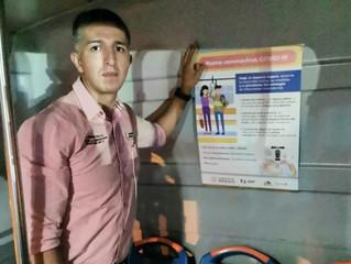Se suman transportistas de Uruapan a medidas de prevención contra COVID-19