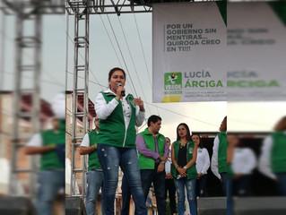 Vamos a sacar al mal gobierno en Quiroga: Luz María Ramírez