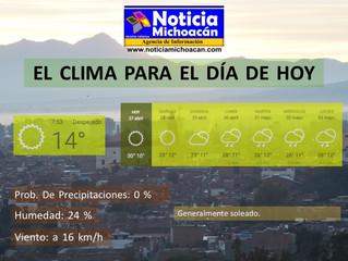 Clima para Zacapu y la Región, Generalmente soleado