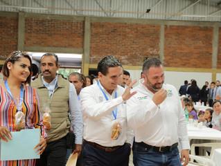 Gente buena y trabajadora, grandeza de Michoacán: Silvano Aureoles
