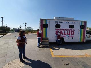 Con unidad móvil, refuerza SSM atención contra COVID-19 en Apatzingán