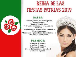 Se realizará certamen Reina de las Fiestas Patrias en Erongarícuaro