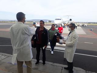 Mantiene SSM filtros sanitarios en aeropuertos