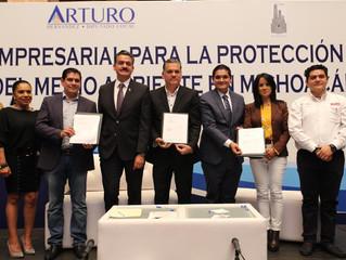 Unen esfuerzos, Arturo Hernández, empresarios y gobierno del estado, en pro del medio ambiente