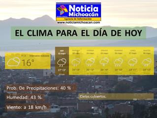 Clima para Zacapu y la Región, Cielos cubiertos