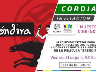 Ayuntamiento de Zacapu invita a disfrutar Muestra de Cine Indígena con la película Eréndira