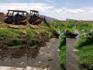 Presidenta de Puruándiro Lleva a cabo Inspección de Limpieza para Prevenir durante las lluvias