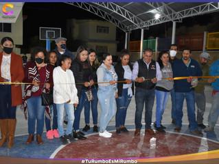 Ariel Trujillo continúa dando resultados a los Coenenses: inauguración de techumbre en la cancha