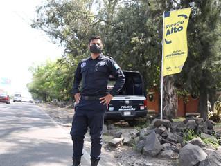 Con Bandera Amarilla, intensifica SSP labores de prevención contra COVID-19 en Morelia