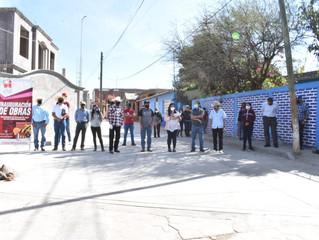 Presidenta de Puruándiro Inaugura la Calle Revolución en la comunidad Janambo