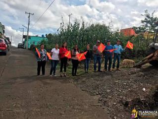 Ayuntamiento de Tlazazalca da banderazo a la obra de drenaje en la comunidad de La Yerbabuenada