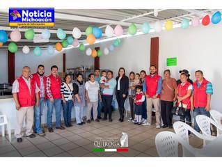 Conmemoran el 1er aniversario del comedor comunitario indígena del calvario en Quiroga