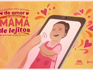 """""""De lejitos"""", invita el Gobierno del Estado a festejar a las mamás"""