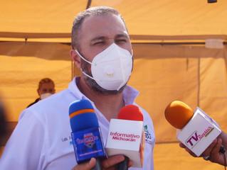 Presidente municipal continúa realizando obras públicas y trabajando por un mejor Zacapu